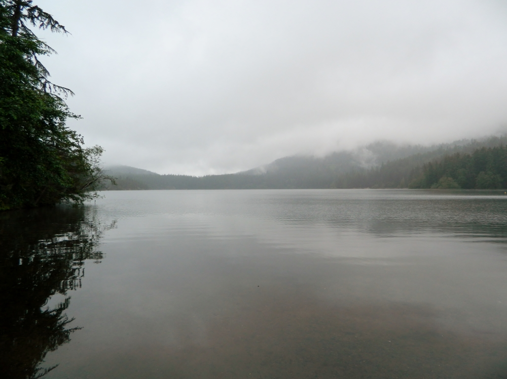 Cascade Lake was both gorgeous and eerie at the same time.