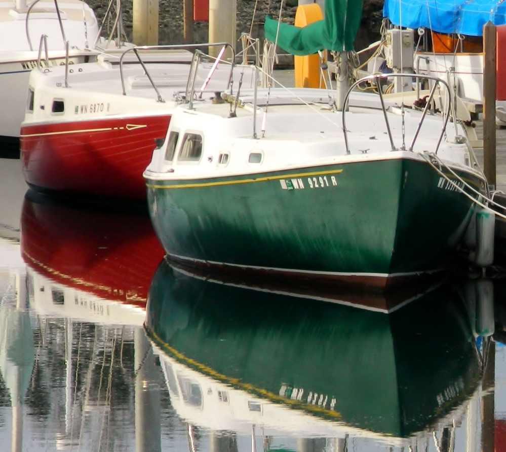 There were lots of colorful sailboats in the Port Townsend harbor.
