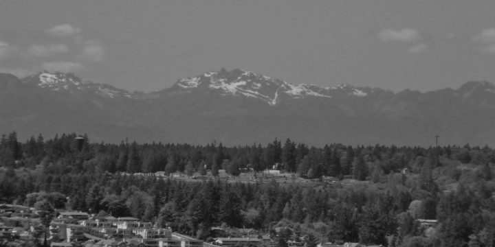 Used a red filter to try and get a bit of definition on the Olympic Mountains floating above Gig Harbor.