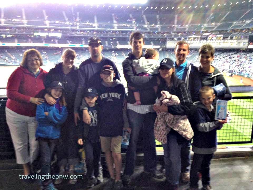 A blurry cell phone photo by my dad of the whole family at a Yankees game in 2014. It's not often we all get together since we are spread across two states, but a Yankees game is a good excuse.
