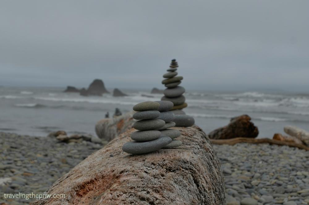 Man-made meets nature-made at Ruby Beach.