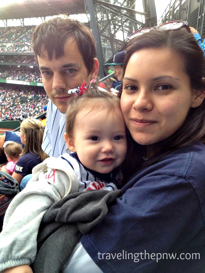 Catarina at her first Major League Baseball game in 2014 at Safeco Field in Seattle. She was even rocking a Yankees sweatshirt, and saw a Yankees win!