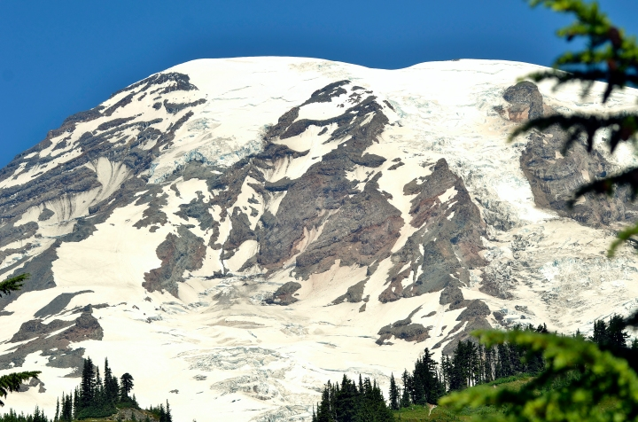 The views of Mount Rainier are stunning in their immediacy when you are at Paradise.