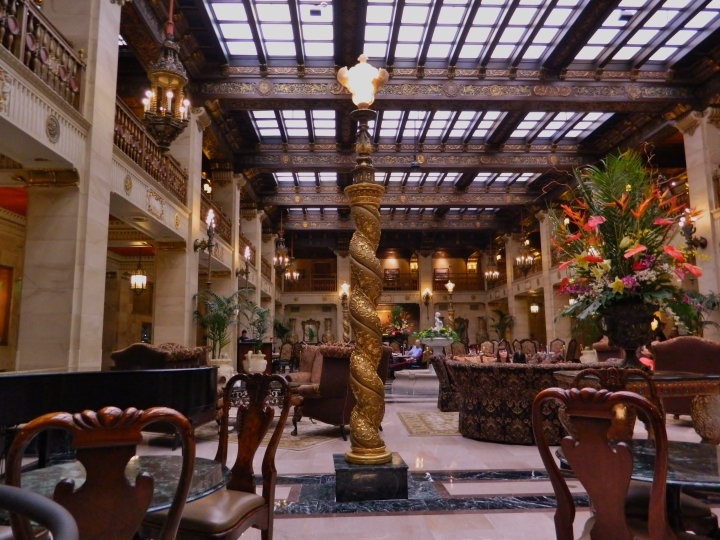 The lobby in the Davenport is stunning with plenty of opulence.