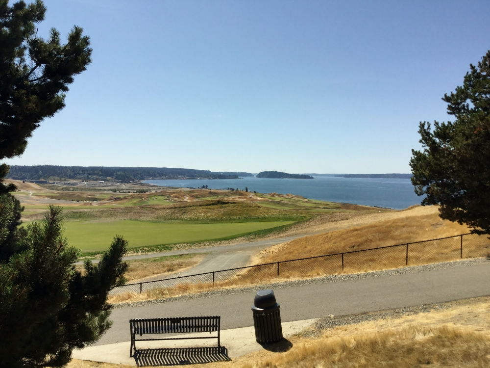 The Playground by the Sound offers stunning views of the Puget Sound, and Chambers Bay Golf Course.
