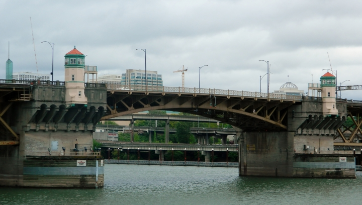 The city of Portland, Oregon, has a lot of bridges. Here are just a few crossing the Willamette River downtown.