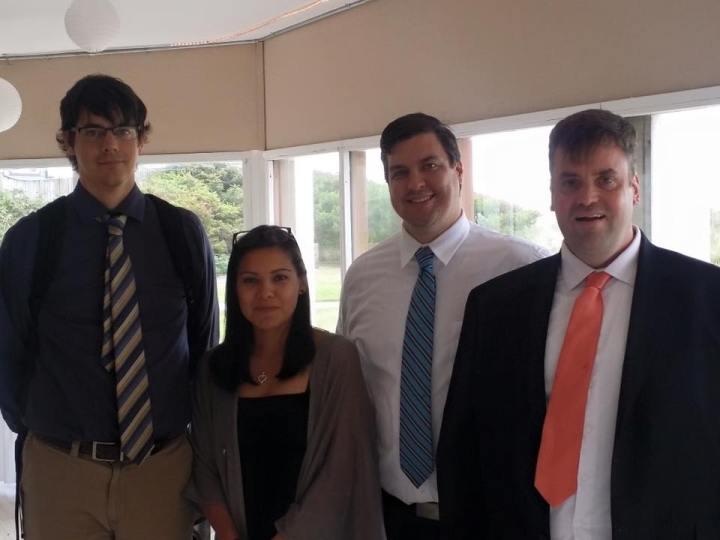 It was an Odessa American reunion at the Geoff and Maria's wedding! Craig, far left, Veronica, Ben Maki and Geoff Folsom.
