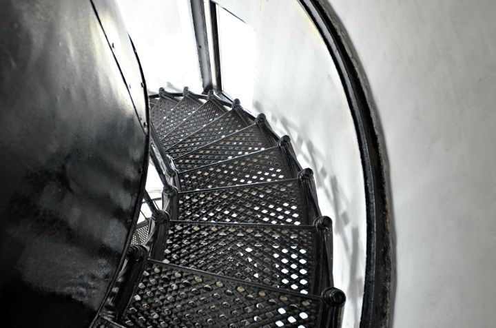 If you go on the lighthouse tour, be prepared to climb 194 steps up the spiral iron staircase to the top of the tallest lighthouse in Oregon.