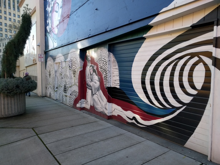 One of the many beautiful murals that adorn buildings in Tacoma.