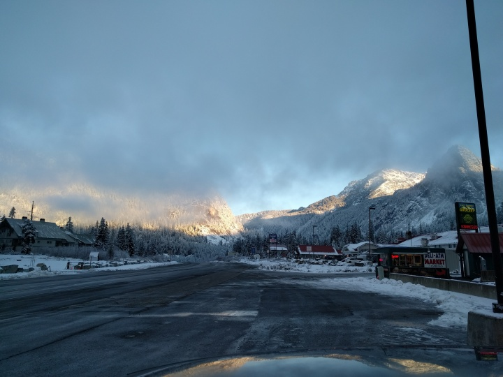 While the top of Snoqualmie Pass offered some beautiful views, we were lucky and had clear roads the entire way.