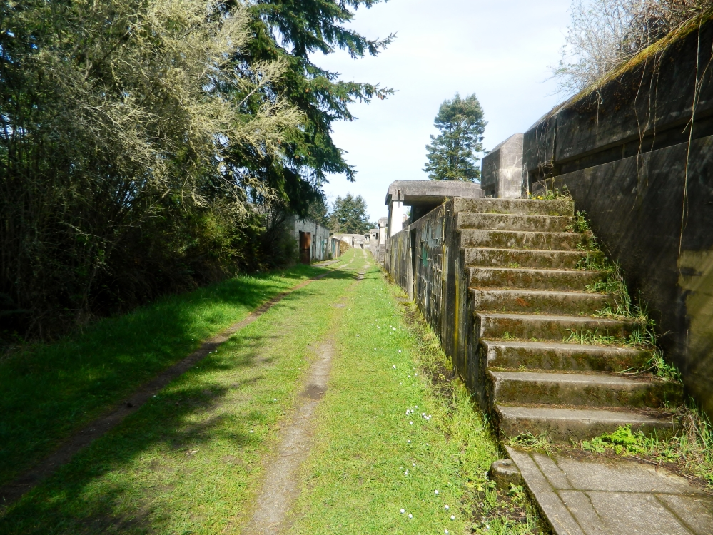 The upper reaches of Fort Worden, which overlooks the Puget Sound.