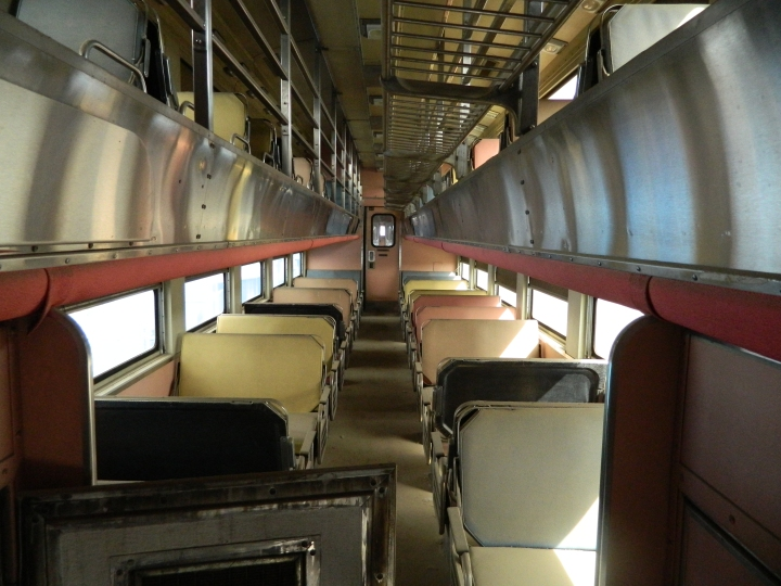 The interior of an abandoned train car in Pasco.