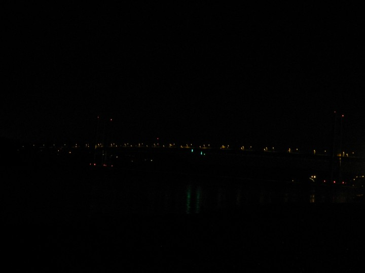 This is the best that my digital camera could do. I'm sure I could mess with the settings, and I tried, but it's hard to do when standing on a pitch black beach late at night.