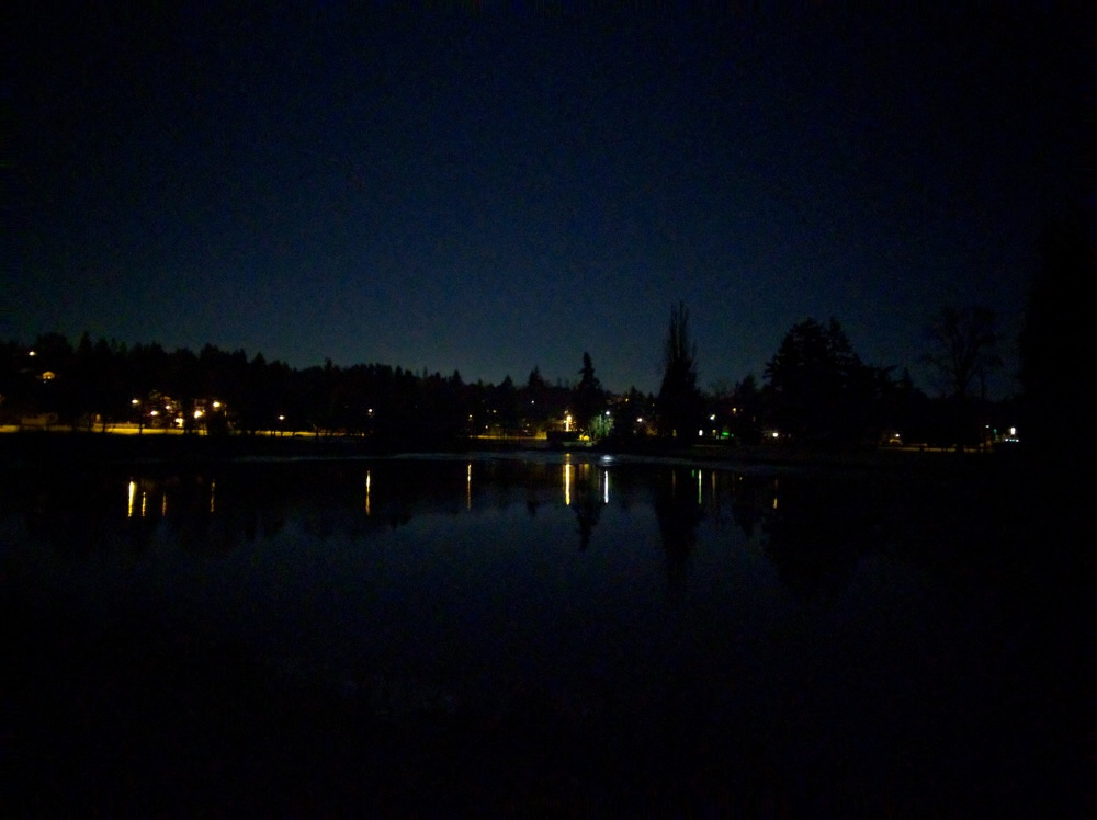 I was hoping to get a reflection of the Snow Moon in the lagoon, but failed at that also! This was also taken with my phone.