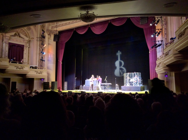 Black Violin opens its concert in Tacoma on Feb. 25. The show was sold out.