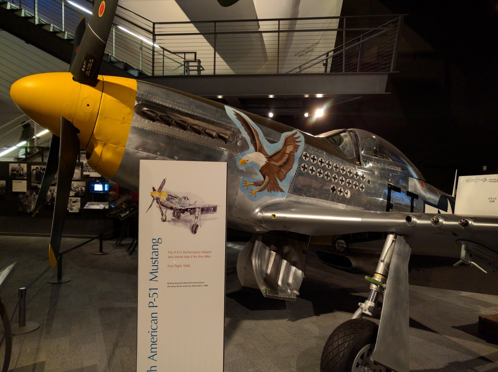 The World War II fighter exhibit had lots of cool airplanes from nearly every country that fought in the war.