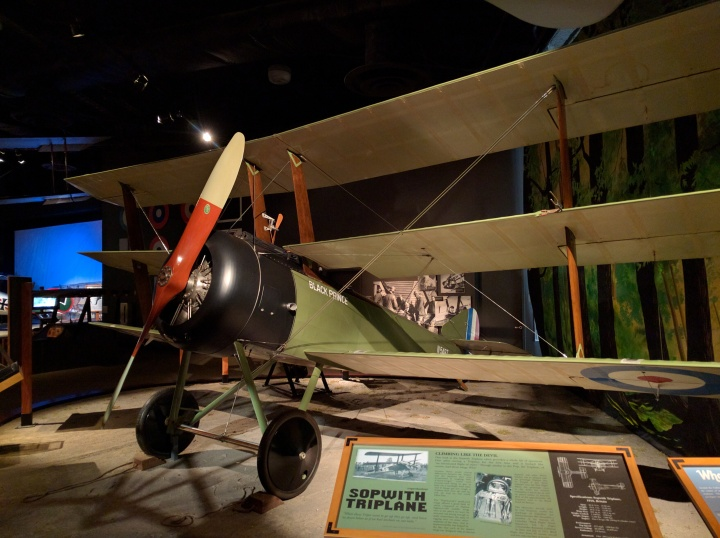The Sopwith Triplane was a single seat British plane used during World War I. The Museum of Flight has a huge display of World War I and World War II fighter planes.