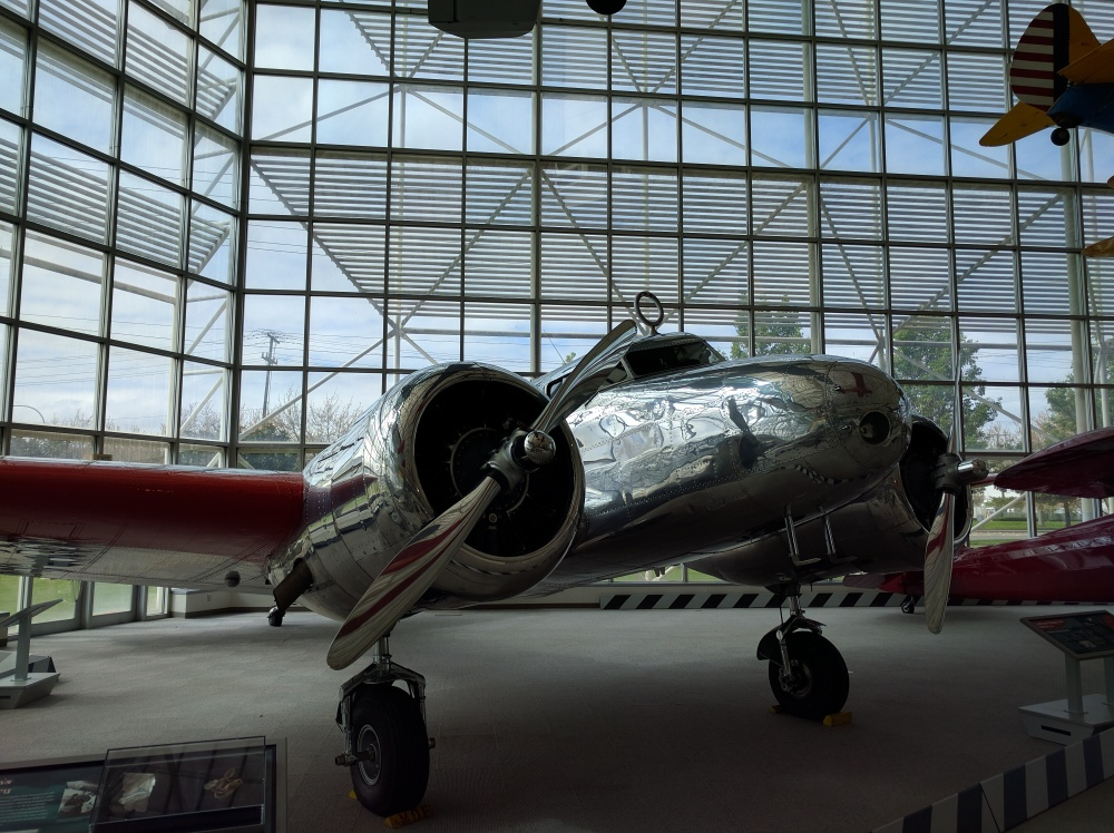 This is the type of plane that Amelia Earhart was flying when she went missing on her flight around the world.