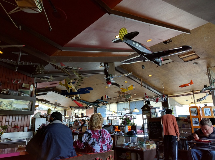 No trip to the Museum of Flight is complete without a visit to Randy's Restaurant for some old fashioned diner food. Come for the food and coffee, stay for the model airplanes hanging from the ceiling.