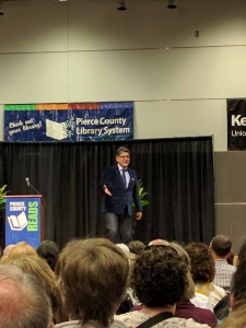 Author Sherman Alexie speaks in Lakewood recently as part of the Pierce County READS program.