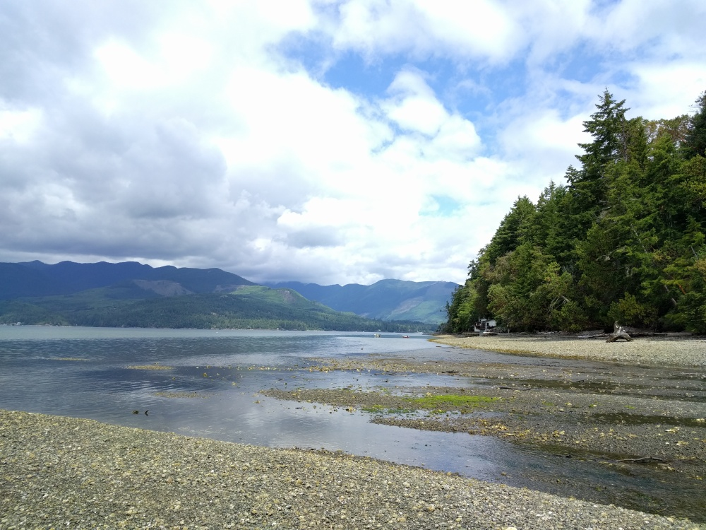 Boyce Creek meets the Pacific Ocean.