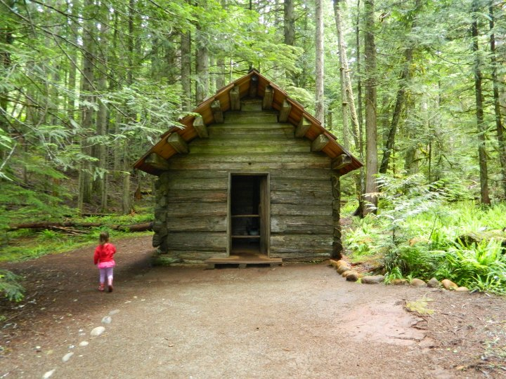 The Longmire Cabin is the oldest structure in Mt. Rainier National Park and was built in 1888.