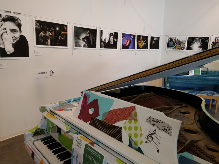 The Piano in the Park exhibit at KEXP's new home in the Seattle Center.