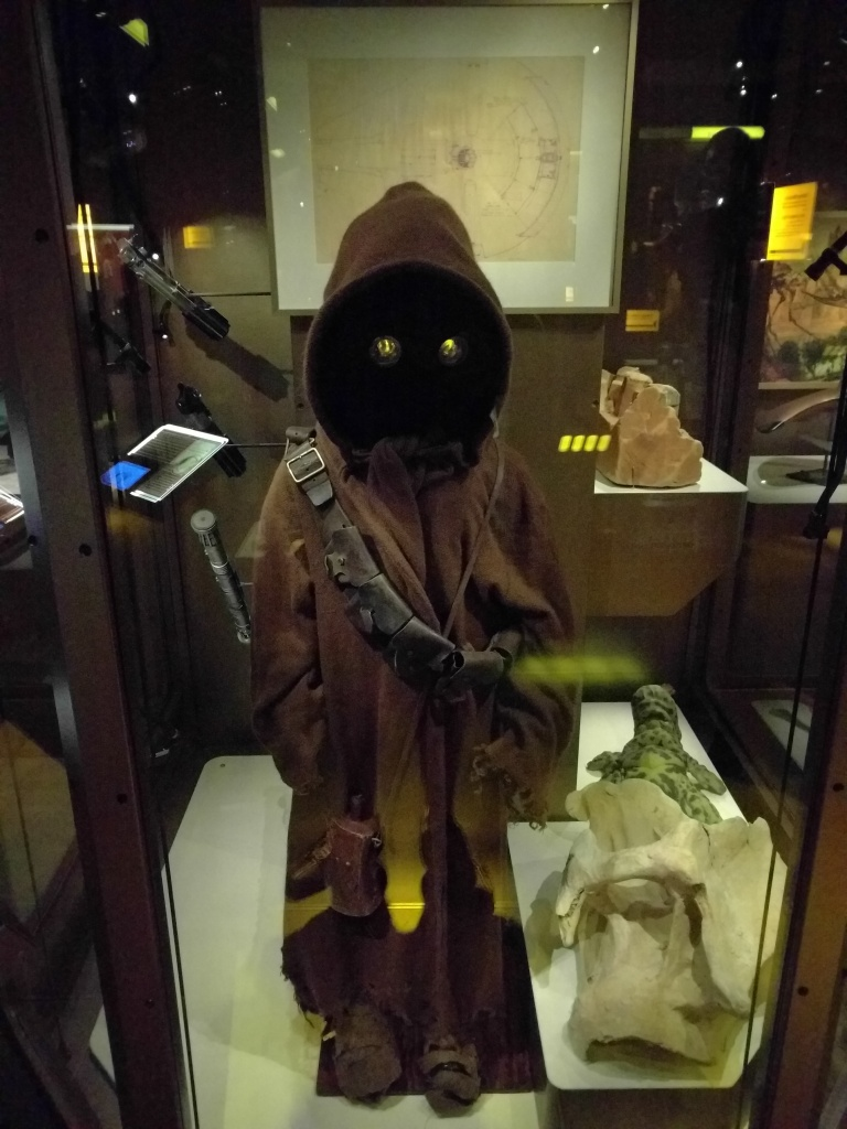 The Science Fiction exhibit featured cool Star Wars memorabilia.