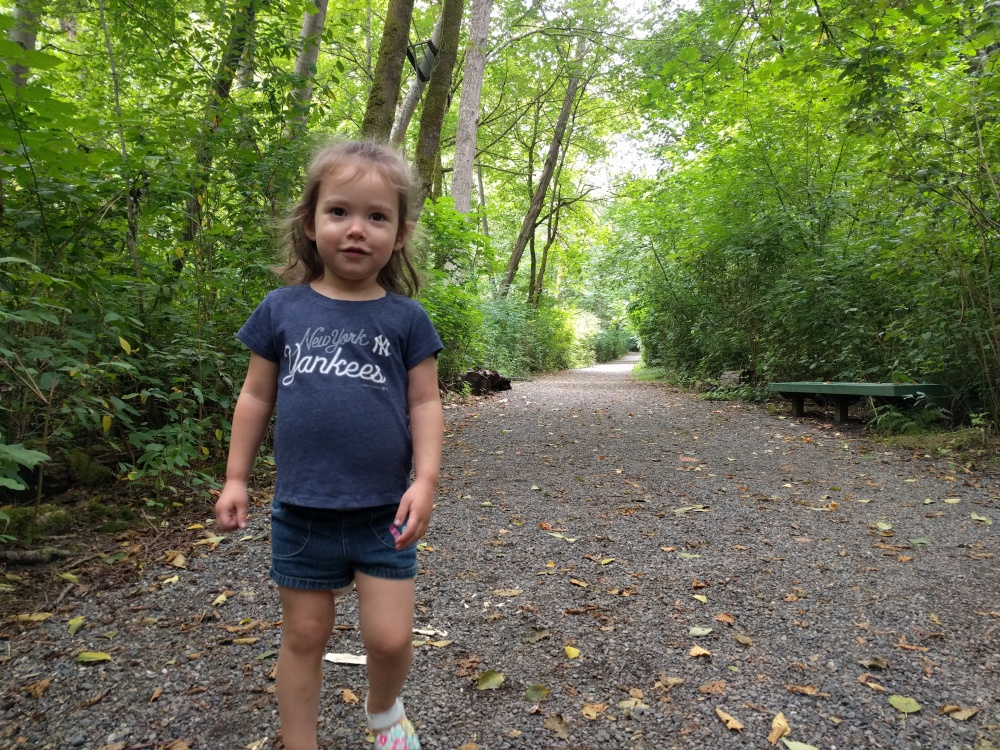 Catarina loved this trail because it was full of one of her favorite things in life - gravel.