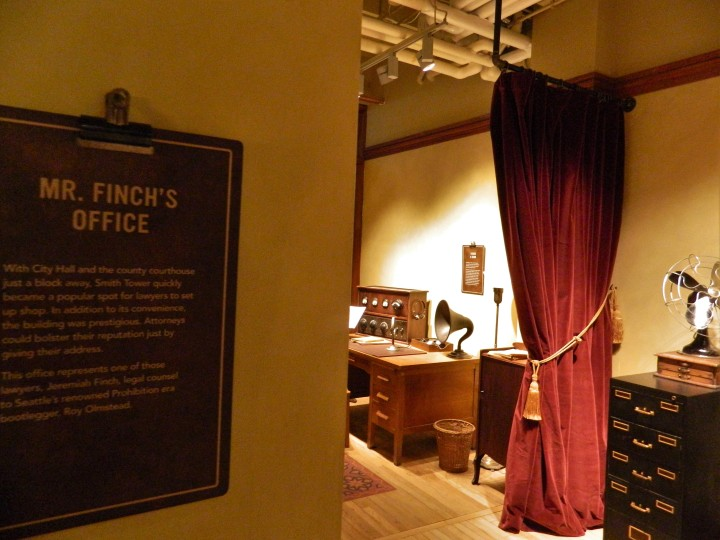 The new historic self-guided tour features lots of information about the Smith Tower from its early days.