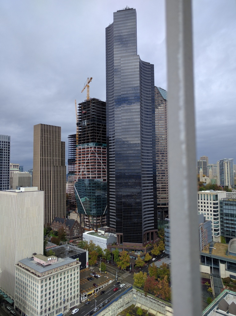 The Columbia Tower is now the tallest building in Seattle, easily overwhelming the Smith Tower.
