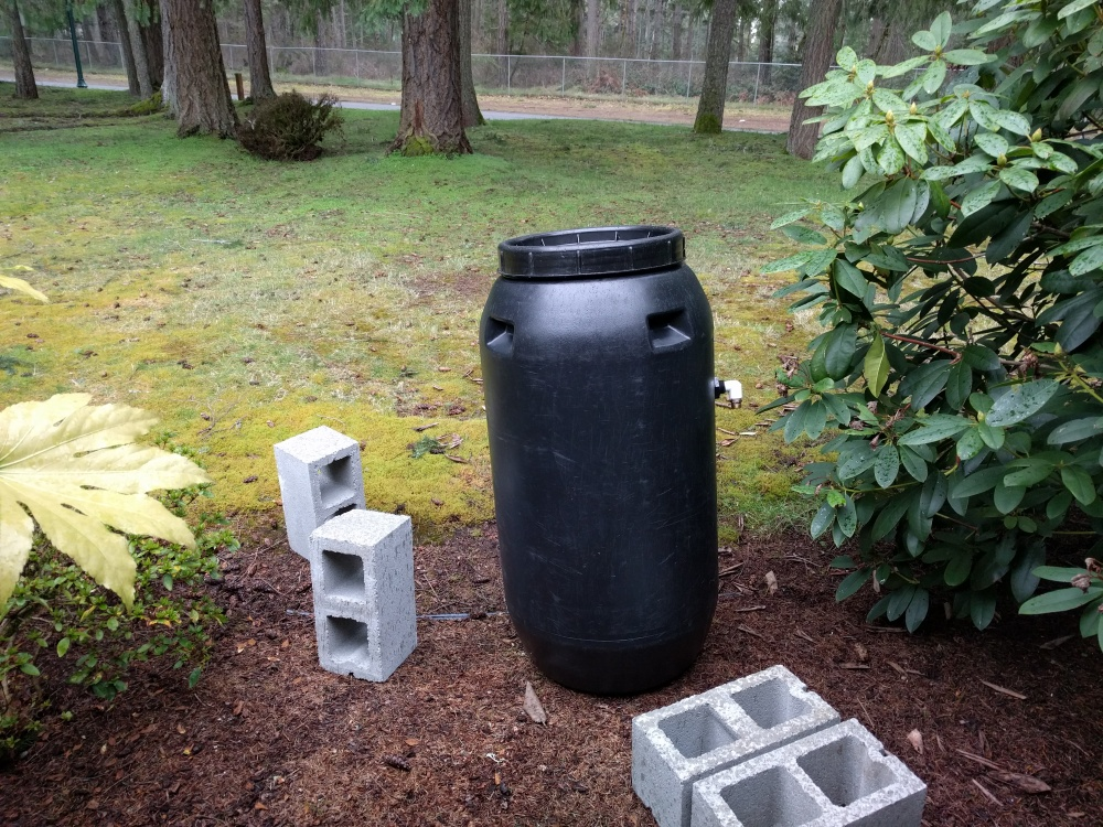 Four cinder blocks is all you need to install this bad boy. Pretty easy.